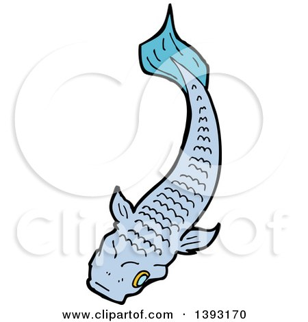 Blue koi fish clipart - photo#23