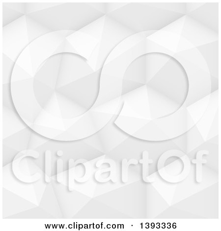 Clipart of a Grayscale Polygonal Geometric Background - Royalty Free Vector Illustration by vectorace