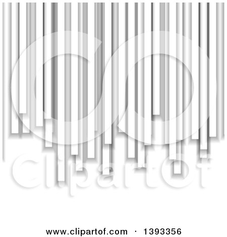 Clipart of a Grayscale Columns Background - Royalty Free Vector Illustration by vectorace
