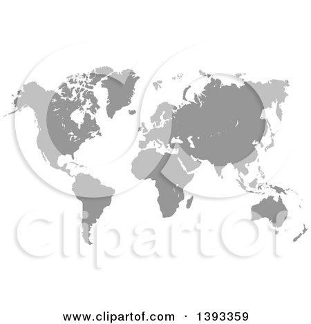 Grayscale world atlas map posters art prints by vectorace grayscale world atlas map posters art prints gumiabroncs Image collections