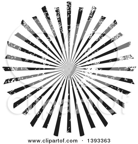 Clipart of a Black Retro Spiral Burst - Royalty Free Vector ...