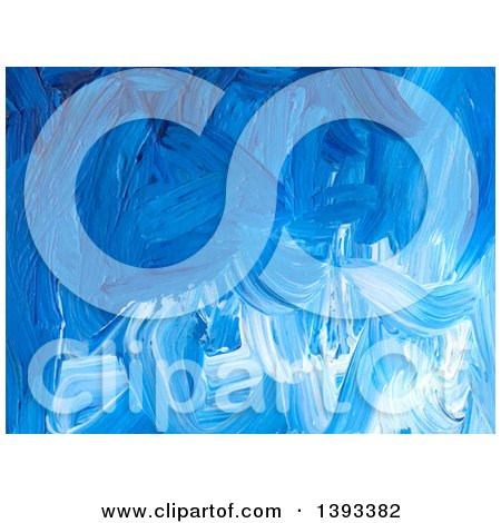 Clipart of a Blue Acrylic Paint Background - Royalty Free Vector Illustration by vectorace