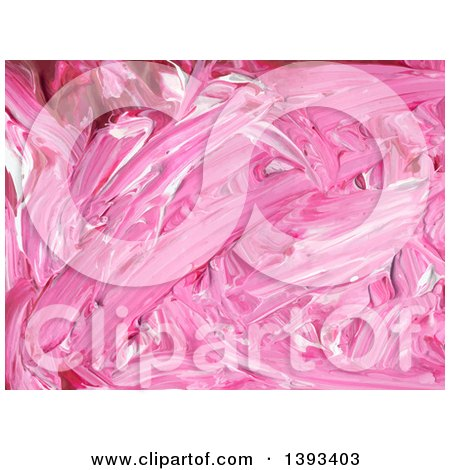 Clipart of a Pink Acrylic Paint Background - Royalty Free Vector Illustration by vectorace