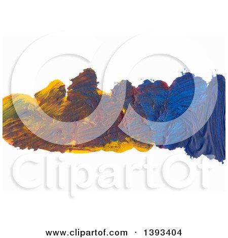 Clipart of an Oil Paint Background - Royalty Free Vector Illustration by vectorace