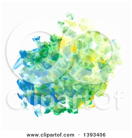 Clipart of an Oil Paint Fingerprint Background - Royalty Free Vector Illustration by vectorace