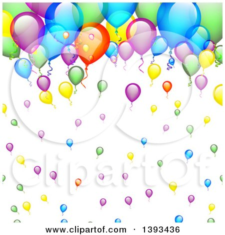 Clipart of a Colorful Party Balloon Background - Royalty Free Vector Illustration by vectorace
