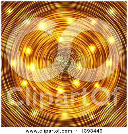 Clipart of a Gold Radial Background - Royalty Free Vector Illustration by vectorace
