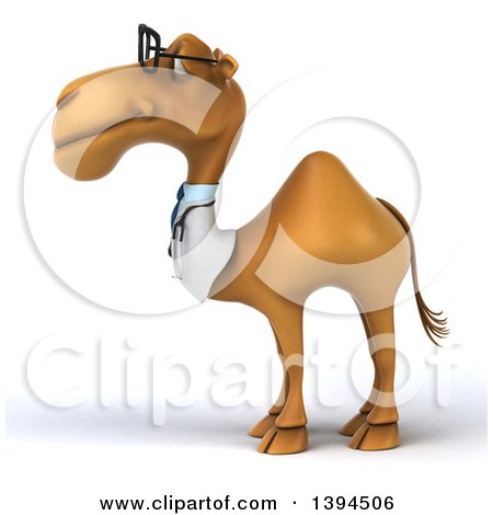 Clipart of a 3d Doctor or Veterinarian Camel, on a White Background - Royalty Free Illustration by Julos