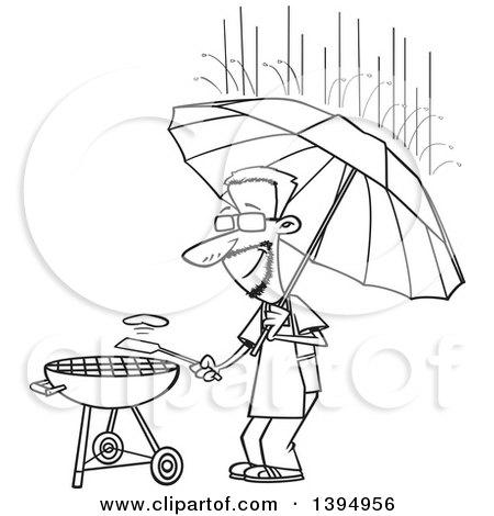 Royalty Free Rf Clip Art Illustration Of A Cartoon Man Using A Gas