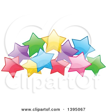 Clipart of a Colorful Cluster of Stars - Royalty Free Vector Illustration by Liron Peer