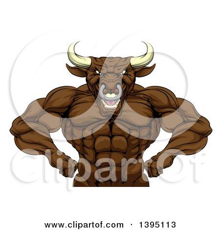 Man with a bull head
