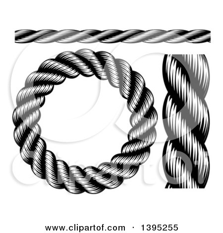 Nautical Clipart Black And White Clipart of Blac...