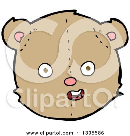 Clipart of a Cartoon Brown Teddy Bear - Royalty Free ...