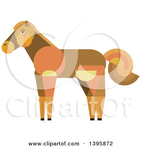 Clipart of a Flat Design Horse - Royalty Free Vector Illustration by Vector Tradition SM