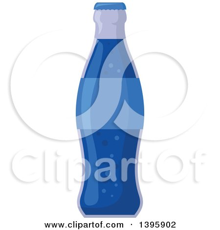 Clipart of a Blue Soda Bottle - Royalty Free Vector Illustration by Vector Tradition SM