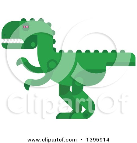 Clipart of a Flat Design Dinosaur - Royalty Free Vector Illustration by Vector Tradition SM