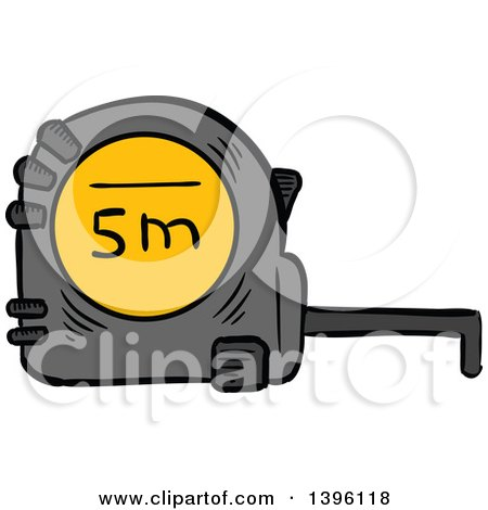 Clipart of a Happy Tape Measure - Royalty Free Vector Illustration ...