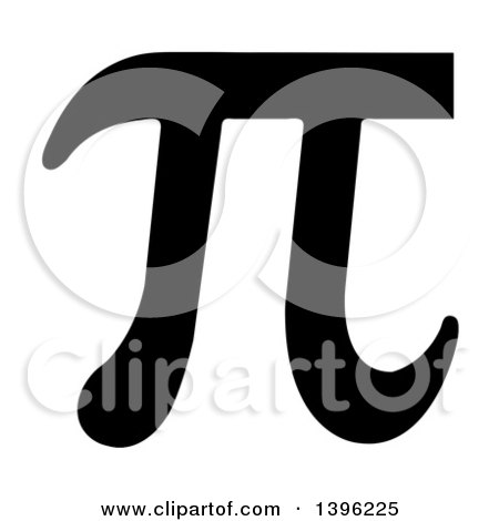 Clipart of a Black Pi Symbol - Royalty Free Vector Illustration by michaeltravers