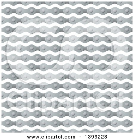 Clipart of a Seamless Pattern Background of Bicycle Chains - Royalty Free Vector Illustration by michaeltravers