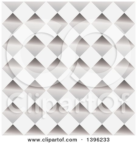 Clipart of a Seamless Pattern Background of Shiny Diamonds - Royalty Free Vector Illustration by michaeltravers