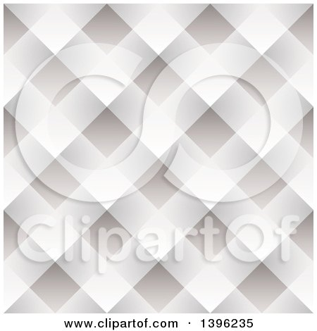Clipart of a Seamless Pattern Background of Gray and White Woven Paper - Royalty Free Vector Illustration by michaeltravers