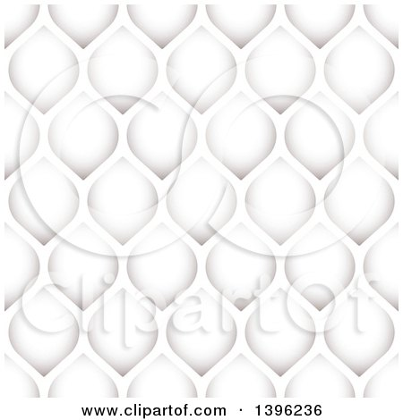 Clipart of a Seamless Pattern Background of Grayscale Petals - Royalty Free Vector Illustration by michaeltravers
