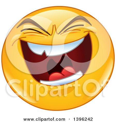 Clipart Laughing And Pointing Emoticon Face - Royalty Free