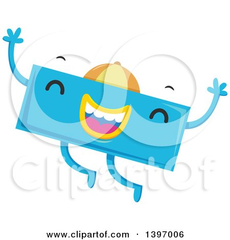 Dancing Blue Monster Math Subtraction Symbol Character Posters, Art ...