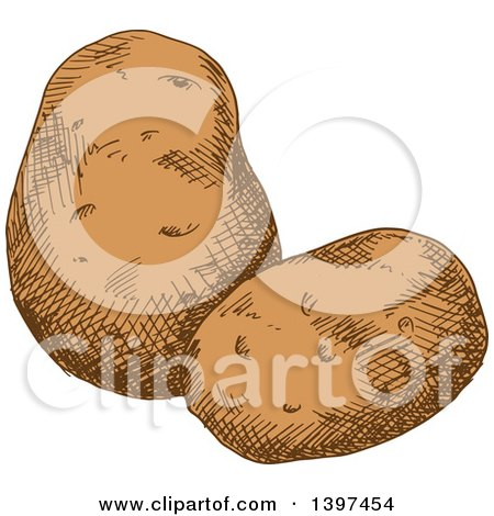 Clipart of Sketched Potatoes - Royalty Free Vector Illustration by Vector Tradition SM