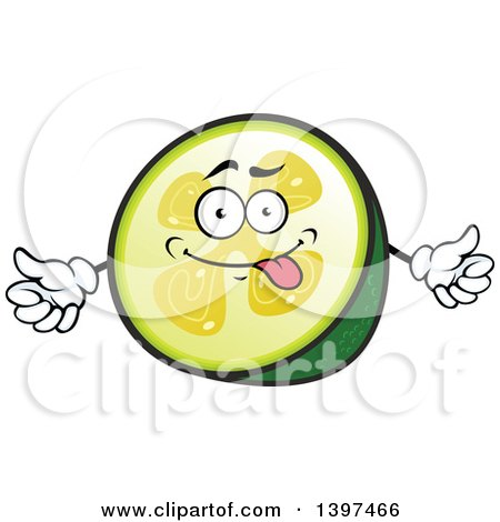 Clipart of a Pineapple Guava Character - Royalty Free Vector Illustration by Vector Tradition SM