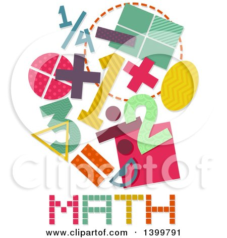 Clipart of Patterned Math Designs - Royalty Free Vector ...