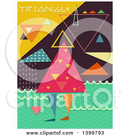 Clipart of a Patterned Person with Triangles - Royalty Free Vector Illustration by BNP Design Studio