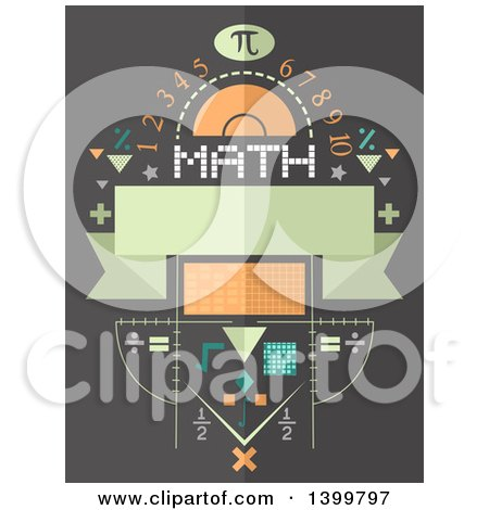 Clipart of a Math Design with Symbols and Numbers - Royalty Free Vector Illustration by BNP Design Studio