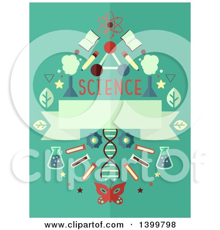 Clipart of a Science Design with Equipment - Royalty Free Vector Illustration by BNP Design Studio