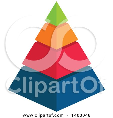 Clipart of a Colorful 3d Pyramid Chart - Royalty Free Vector Illustration by Vector Tradition SM