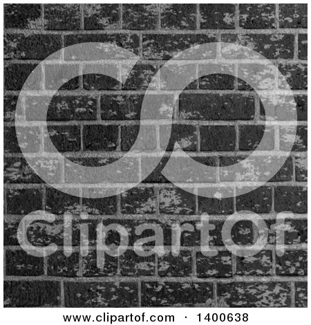 Clipart of a Background of a Black Industrial Brick Wall - Royalty Free Vector Illustration by KJ Pargeter