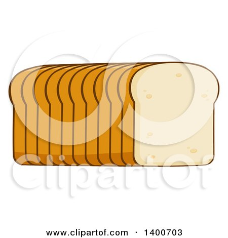 Clipart of a Loaf of Sliced Bread - Royalty Free Vector Illustration by Hit Toon