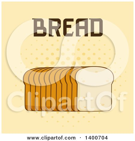 Clipart of a Loaf of Sliced Bread and Text - Royalty Free Vector Illustration by Hit Toon