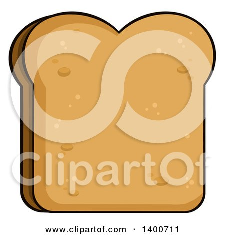 Clipart of a Piece of Toasted Bread - Royalty Free Vector Illustration by Hit Toon