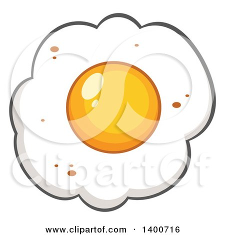 Clipart of a Fried Egg - Royalty Free Vector Illustration by Hit Toon