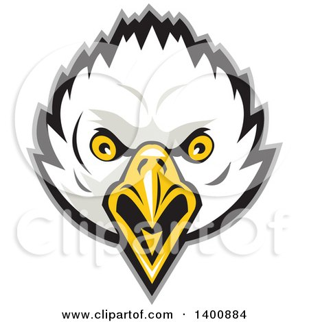 Clipart of a Retro Bald Eagle Head - Royalty Free Vector Illustration by patrimonio