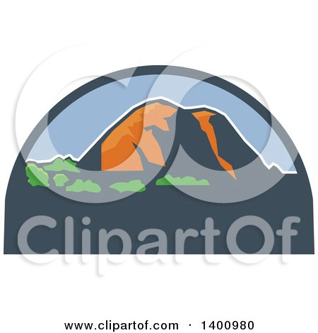 Clipart of a Retro Wpa Styled Landscape of El Capitan in Yosemite ...