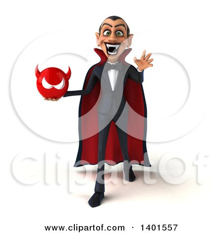 Clipart of a 3d Dracula Vampire, on a White Background - Royalty Free Illustration by Julos