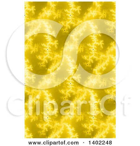 Clipart of a Seamless Yellow Fractal Background - Royalty Free Illustration by oboy
