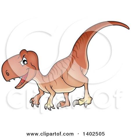 Clipart of a Raptor Dinosaur - Royalty Free Vector Illustration by visekart
