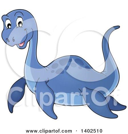 Clipart of a Cute Pliosaur Dinosaur - Royalty Free Vector Illustration by visekart