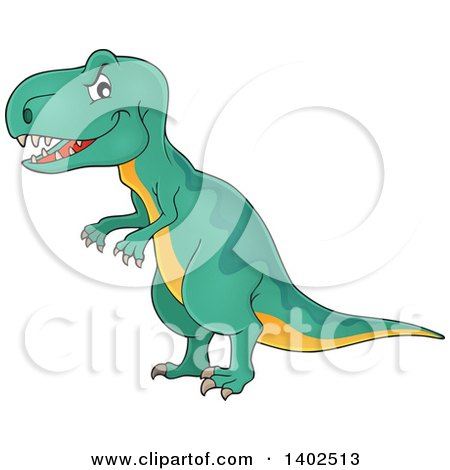 Clipart of a Tyrannosaurus Rex Dinosaur - Royalty Free Vector Illustration by visekart