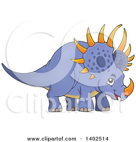 Clipart of a Triceratops Dinosaur - Royalty Free Vector Illustration by visekart