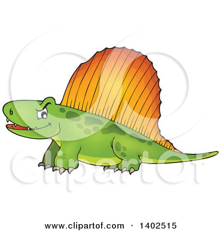 Clipart of a Pelycosaur Dinosaur - Royalty Free Vector Illustration by visekart