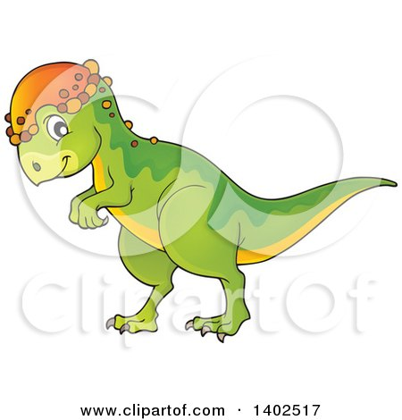 Clipart of a Pachycephalosaurus Dinosaur - Royalty Free Vector Illustration by visekart